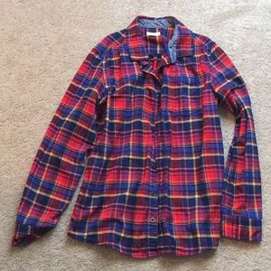 Other - Boys long sleeve button down flannel shirt
